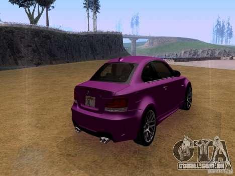 BMW 1M  2011 para GTA San Andreas esquerda vista