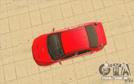 Mitsubishi Lancer Evolution X MR1 para GTA San Andreas vista traseira