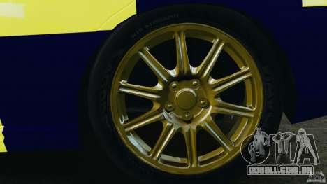 Subaru Impreza British ANPR [ELS] para GTA 4 vista lateral