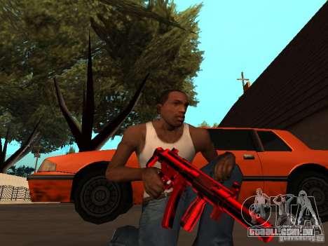 Red Chrome Weapon Pack para GTA San Andreas sétima tela