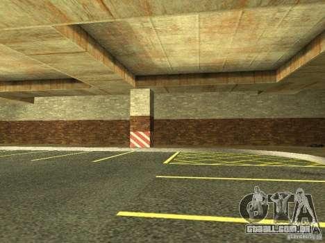 A nova garagem subterrânea pela polícia de Los S para GTA San Andreas por diante tela
