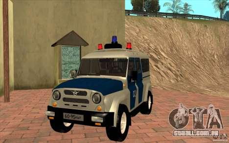 Polícia Bobik UAZ-3159, v. 2 para GTA San Andreas