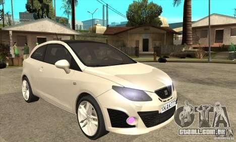 Seat Ibiza Cupra 2009 para GTA San Andreas vista traseira
