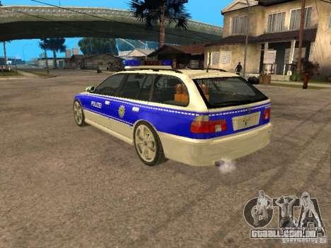BMW 525i Touring Police para GTA San Andreas esquerda vista