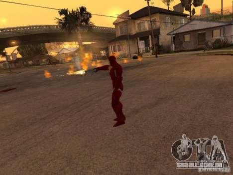 Homem de ferro para GTA San Andreas por diante tela
