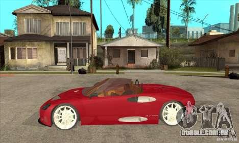Spyker C8 Spyder para GTA San Andreas esquerda vista