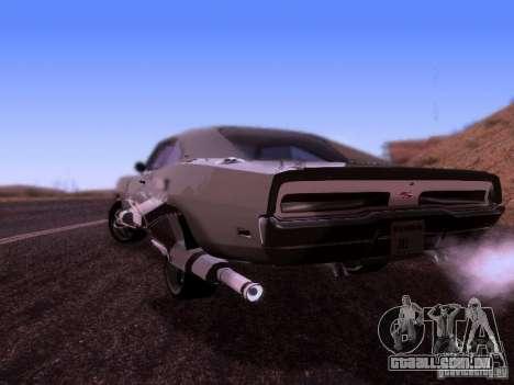 Dodge Charger 1970 Fast Five para GTA San Andreas esquerda vista