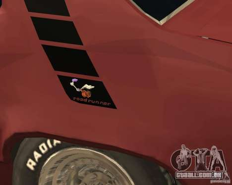 Plymouth Roadrunner para GTA San Andreas vista superior