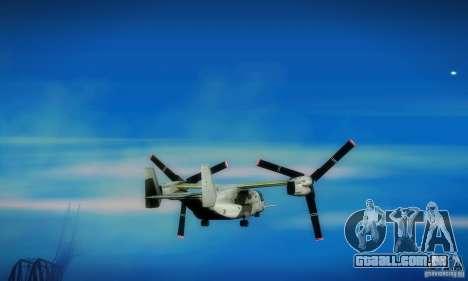 MV-22 Osprey para GTA San Andreas vista traseira