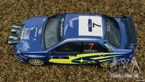 Subaru Impreza WRX STI N12 para GTA 4 vista direita