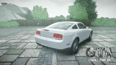 Ford Shelby GT500 para GTA 4 traseira esquerda vista