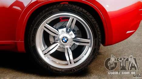 BMW X6 M 2010 para GTA 4 vista interior