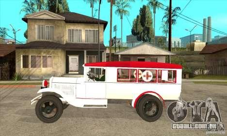 Ambulância de GAZ AA para GTA San Andreas esquerda vista
