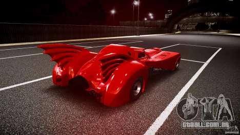Batmobile Final para GTA 4 vista lateral