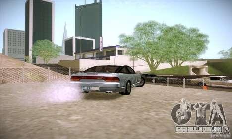 Nissan 240SX 1990 para GTA San Andreas traseira esquerda vista