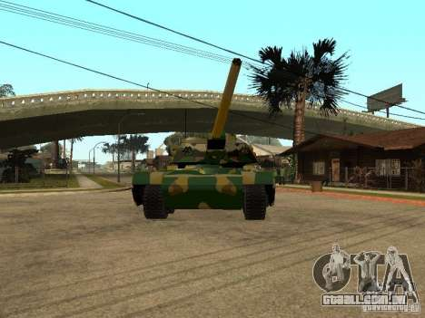 Camuflagem para Rhino para GTA San Andreas esquerda vista