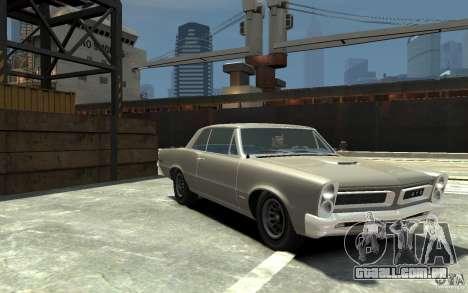 Pontiac GTO v1.1 para GTA 4 vista de volta