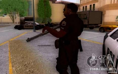 Um policial de CoD: BO2 para GTA San Andreas por diante tela