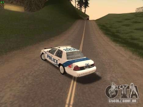 Ford Crown Victoria Vancouver Police para GTA San Andreas vista traseira