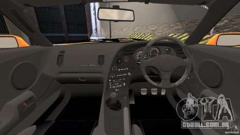 Toyota Supra Tuning para GTA 4 vista de volta