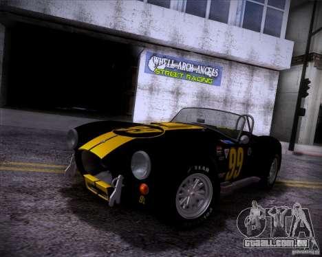 Shelby Cobra 427 Full Tunable para GTA San Andreas vista direita