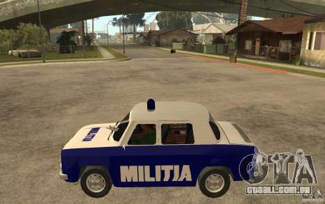 Dacia 1100 Militie para GTA San Andreas esquerda vista