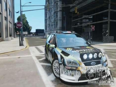 Ford Focus RS WRC para GTA 4 vista de volta