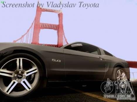 Ford Mustang GT 2011 para o motor de GTA San Andreas