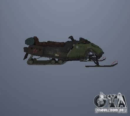Snowmobile para GTA San Andreas esquerda vista