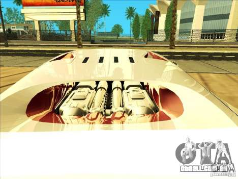 Bugatti Veyron para GTA San Andreas vista interior