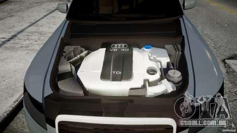 Audi A6 TDI 3.0 para GTA 4 vista de volta