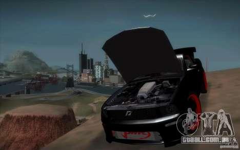 Ford Mustang GT para GTA San Andreas vista interior