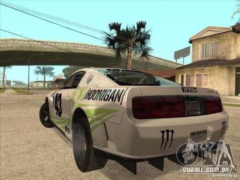 Ford Mustang Ken Block para GTA San Andreas esquerda vista