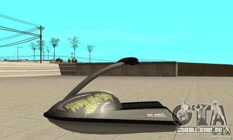 Scooter de água para GTA San Andreas vista traseira