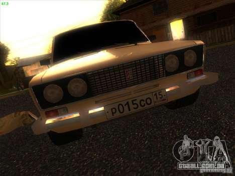 VAZ 2106 Tuning luz para GTA San Andreas vista interior