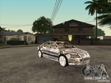 Cromado Volkswagen Phaeton para GTA San Andreas vista traseira