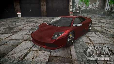 Lamborghini Murcielago v1.0b para GTA 4 vista de volta