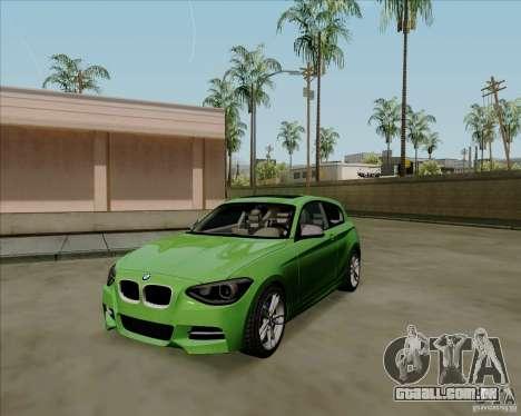 BMW M135i V1.0 2013 para GTA San Andreas esquerda vista