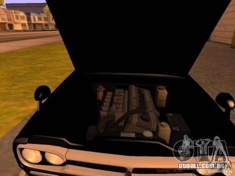 Nissan Skyline 2000GTR para GTA San Andreas vista traseira
