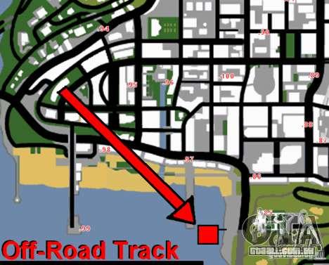 Off-Road Track para GTA San Andreas quinto tela
