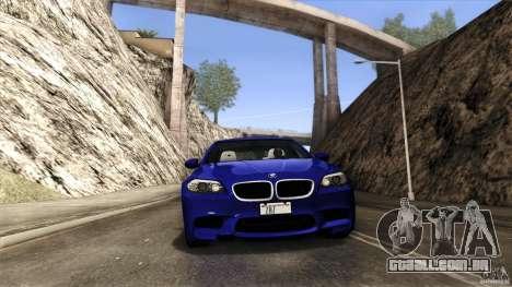BMW M5 F10 2012 para GTA San Andreas vista inferior