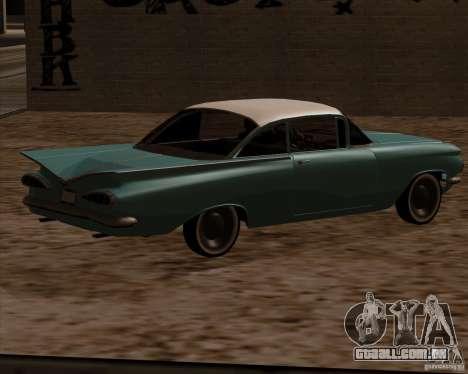Chevrolet Impala 1959 para GTA San Andreas esquerda vista