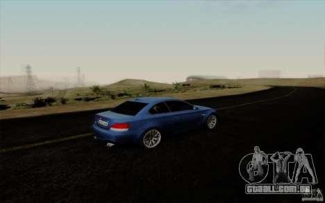 BMW 1M 2011 V3 para GTA San Andreas vista interior