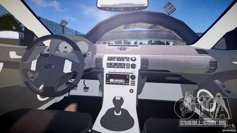 Infiniti G35 v1.0 para GTA 4 vista de volta