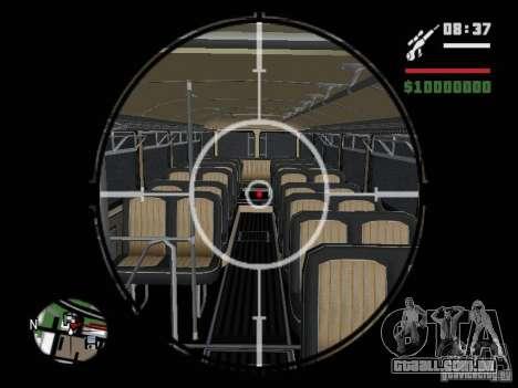 Ikarus 630 para GTA San Andreas vista traseira