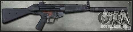 MP5A4 Silenced para GTA San Andreas