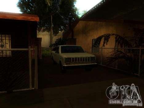 New Car in Grove Street para GTA San Andreas quinto tela
