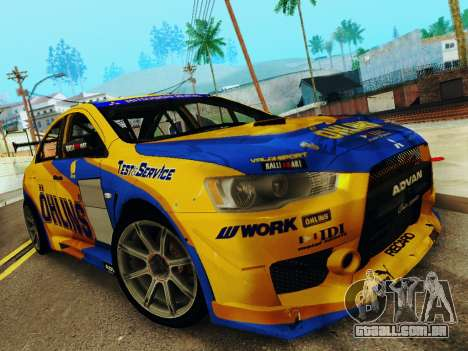 Mitsubishi Lancer Evolution para GTA San Andreas vista traseira