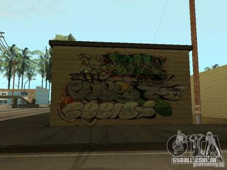Cidade de los Santos graffiti lendas v1 para GTA San Andreas terceira tela