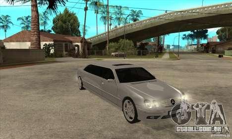 Mercedes-Benz CL65 Limusine para GTA San Andreas vista traseira